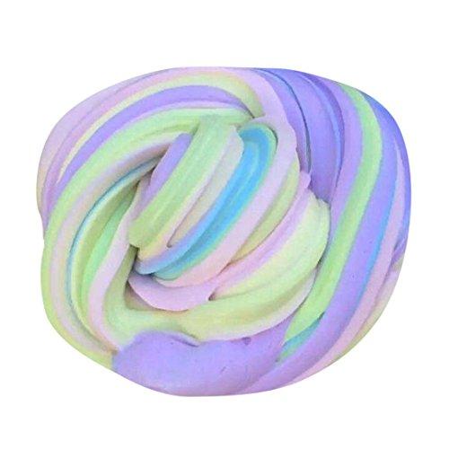 Preisvergleich Produktbild Lanspo Schlamm buntes weiches Spielzeug, Kinder flauschige Floam Slime Putty 60ml Duft Stress Relief Kinder Lehm Spielzeug Flaumig Schleim Duft Stress Relief Spielzeug (Mehrfarbig: E)