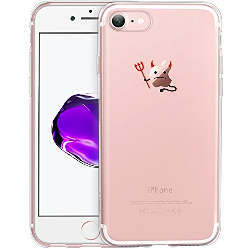 Custodia iPhone 7 Cover, ESR iPhone 7 Clear Soft TPU Protective Case Back Cover with Cute Cartoon Pattern [Slim Fit] [Ultra Thin] for 4.7 inches iPhone 7 (2016 Release) (Evil)