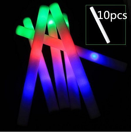 UChic 10 STÜCKE LED Sponge Stick Licht Multi Farbe Stick Glow Schaum Stick für Hochzeit Musik Festival Leistung Glow Stick