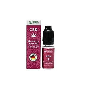 Premium CBD Liquid Blueberry Kush von Breathe Organics | CBD Liquid 10 ml | VG max | nikotinfrei | aus Deutschland