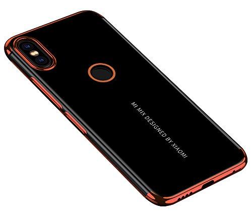 BLUGUL Funda Xiaomi Mi Mix 2S, Electroplating Coloring, Ultra Fina, Transparente Suave TPU Silicona Cover Claro Case para Xiaomi Mix 2S Oro Rosa