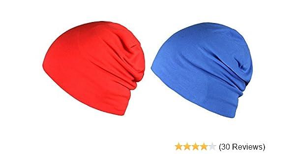 WDSKY Mens Womens Sleeping Cap 100/% Cotton Slouchy