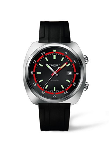 Longines Men's L2.795.4.52.9 Heritage Diver Analog Automatic Black Watch