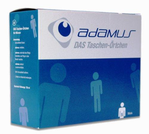 Adamus - Wegwerf Urinal 5 Stück, Taschen WC für Männer, Taschen Örtchen, Einweg Toilette,
