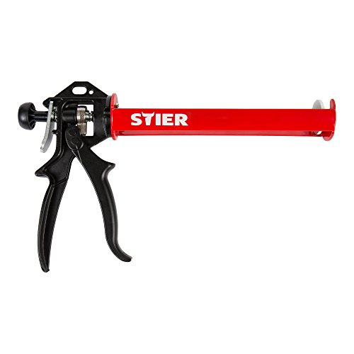 STIER Kartuschenpistole SAP-II, mechanisch, Kartuschenpresse, Metall Gehäuse, 355 mm, Übersetzungsverhältnis 18:1, Handwerker