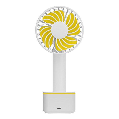 YEARNLY Handventilator USB Ventilator Leise Mini Handheld Ventilator Reise Handlüfter Aufladbar Mini Fan für Zuhause und Unterwegs EIN Muss
