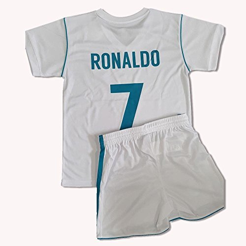 Official Replica 1st Equipament REAL MADRID 2017-2018  Child s CRISTIANO RONALDO Kit- Size  14 years