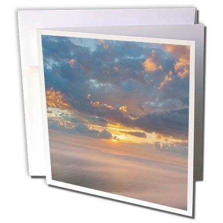 3dRose gc_259513_5 Grußkarte, Motiv: Sonnenuntergang über See Michigan At Sleeping Bear Lakeshore Michigan Usa, 15 x 15 cm (Michigan See Karten)