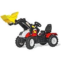 Rolly Toys 046331 rollyFarmtrac Steyr CVT 6240 | Traktor mit Lader | Trettraktor mit Luftbereifung, Sitzverstellung | Schauffellader/Frontlader mit Automatikverriegelung  | ab 3 Jahren
