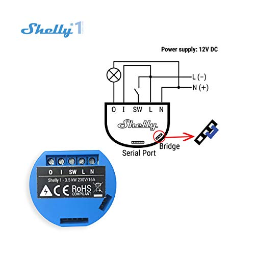 Shelly 1 One Relay Switch wireless wifi Home Automation IOS