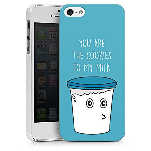 Apple iPhone X Silikon Hülle Case Schutzhülle Sprüche Milk & Cookies Blau Hard Case weiß