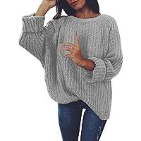 Hanomes Damen warme Pullover Mode Strickpullover Winter Rundhalsausschnitt Strickjacke AsymmetrischJumperTops... preisvergleich bei billige-tabletten.eu