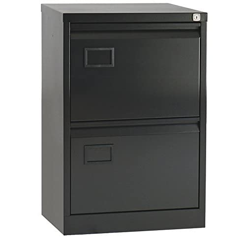 Office Hippo Bisley 2-Drawer Filing Cabinet – Black