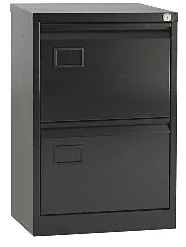 Office Hippo Bisley 2-Drawer Filing Cabinet – Black