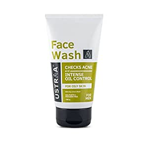 Ustraa Face Wash - Oily Skin (Checks Acne and Oil Control) - 100gm