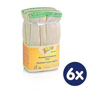 Xkko - Lot de 6 langes pour bébé lavables Premium (38 cm x 46 cm)