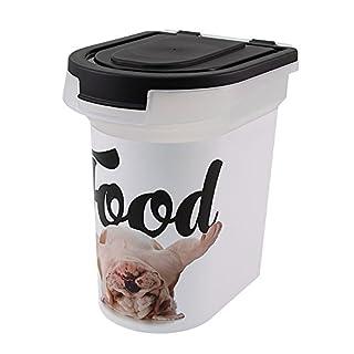 Advantus Plastic Pet Food Bin, Bulldog, 12.5 x 9.75 x 13.38-Inch
