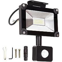 ALOTOA 10W PIR LED Foco Exterior, Blanco Natural 4000K 1000lm, 50W Equivalente halogeno LED Faro Sensor de Movimiento, IP65 Impermeable Para Proyector al aire libre