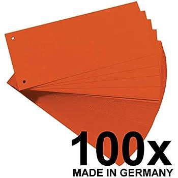0,02€//Stück 100er Pack Trennstreifen rot aus 190g//m² Karton Herlitz