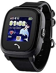 JBC GPS-Telefon Uhr - Kleiner Pirat - Wasserdicht OHNE Abhörfunktion, für Kinder, SOS Notruf+Telefonfunktion, Live GPS+LBS Positionierung, funktioniert weltweit, Anleitung + App + Support auf deutsch