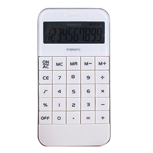 labanca Standard Funktion tragbar Phone-Like Taschenrechner Electric Schreibtisch Top Taschenrechner mit 10-stelligem Display Zeit Zählung und phonetische Funktion weiß Standard Desk Phone