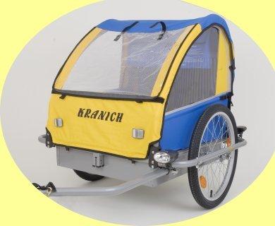 Monz Kranich Blue Bird Alu – Kinderanhänger 20″ (90046) blau /gelb Anhänger