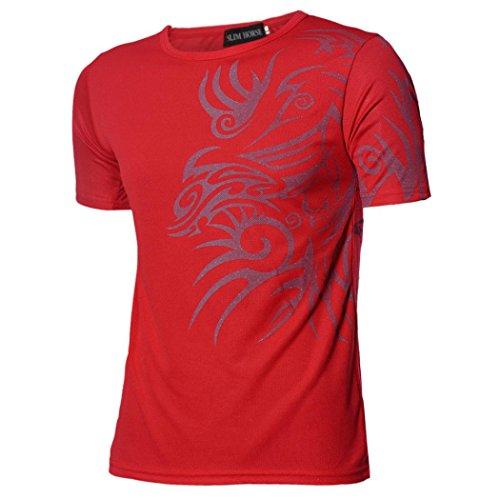 Tonsee Tee-shirts Hommes Sport Tees Design Slim Bottoming shirt