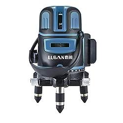 HJSA Niveau Laser 3D Niveau Automatique Outil de nivellement Batterie Lithium Blu-Ray Multifonction pour l'extérieur,Twobluelines+Backpack