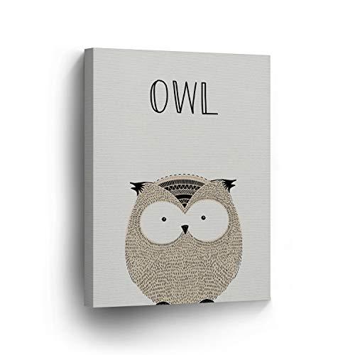 cwb2jcwb2jcwb2j Canvas Print Pretty Owl Painting and Quote Cream Nursery Art Kids Printable Art Nursery Decor Nursery Wall Art Baby Girl Baby Boy - Owl Giclée Print