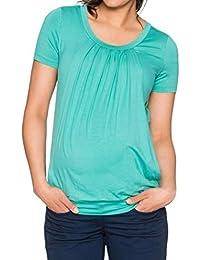 Cinnamou Premamá Camisón Blusa Lactancia de Noche Camisa Divertido Mujers  Tops deOh Baby Carta Maternity Loose f623249770e