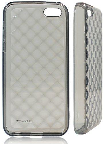 luvvitt 3D Jewel doux slim transparent étui en TPU/Coque pour iPhone 5C (garantie à vie)–Transparent noir