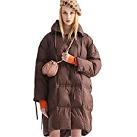 Winter Cocoon-Style Warm Women's Down Jacket, 90% wit eendendons Puffer Coat winddicht ademend Fashionable Comfortabel voor woon-werkverkeer Soft Down Jacket,L