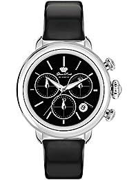 Glam Rock Bal Harbour Damen-Armbanduhr 40mm Armband Leder Schwarz Gehäuse Edelstahl Batterie GR77121N