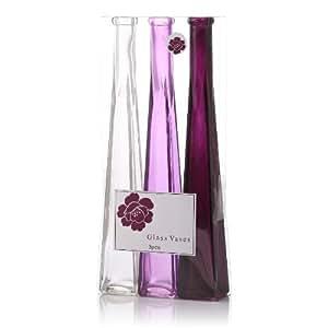 Lot de 3 Vases en verre Ultra fin