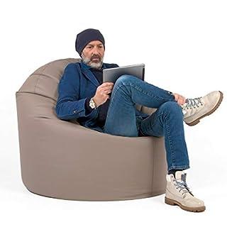 Arketicom DILETTA Bean Bag GAMING Chair Design 110x90 Polystyrene Balls ocre
