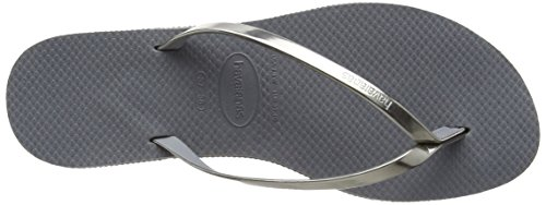 Havaianas You Metallic, Sandales Bout Ouvert Femme Argent (Steel Grey 5178)