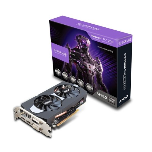 AMD Sapphire Radeon R7 265 2GB GDDR5 DVI-I DVI-D HDMI DP Dual-X PCI-Express Graphics Card  available at amazon for Rs.48754