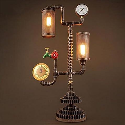 Lampes de bureau Rétro lampe de table de restaurant, lampe de pipe d