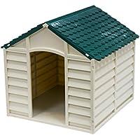 AVANTI TRENDSTORE - Cuccia per cani beige/verde, ca. 71x68x71cm