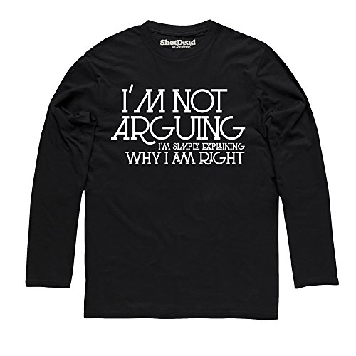 Why I'm Right Langarmshirt, Herren Schwarz