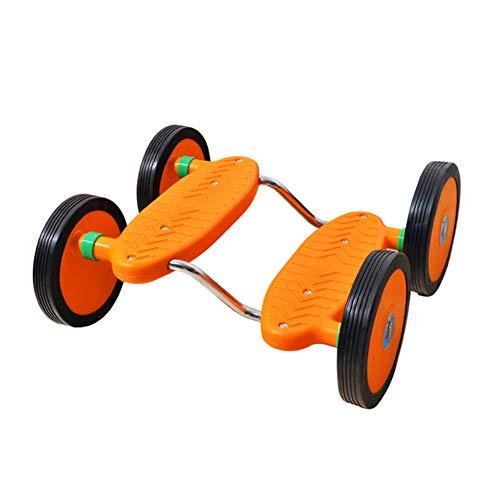 WYX Ausgewogene Laufband-Kindergarten Sense Trainingsgeräte ohne Armlehnen Vierräder Fahrrad Kinder Spielzeugunterricht Skateboard,A