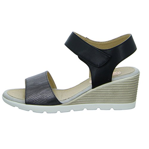 Alyssa 17S-KFBAA1 Damen Sandalette eleganter Boden Schwarz (Schwarz)