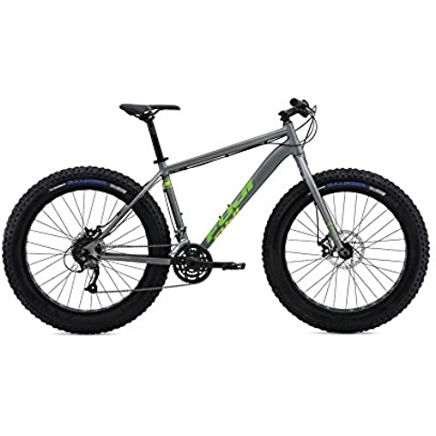 'Fuji Wendigo 1.3Fat Bike Fatbike mouten Bike MTB con 4.7Vee Tire Bulldozer pneumatici e cerchioni 100mm Weinmann modello 2016, Grau Blau L/19