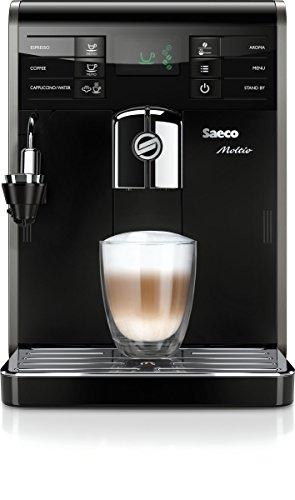 Saeco HD8768/21 Moltio Kaffeevollautomat, automatischer Milchaufschäumer, schwarz
