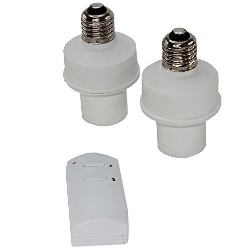 lote de 2 - Casquillo para bombillas E27 - mando a distancia - distancia 30m - Homologado CE