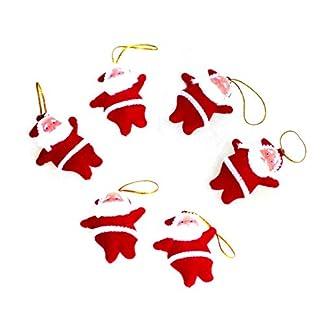 Rocita 6pcs Mini Mignon Papá Noel Muñeca Colgante accroché Ornamentos para de decoración de árbol de Navidad