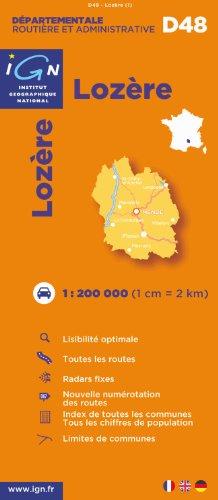 D48 Lozere 1/200.000