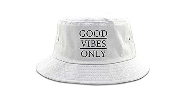 ac5bf66bbd1df FASHIONISGREAT Good Vibes Only Womens Bucket Hat White  Amazon.in  Clothing    Accessories