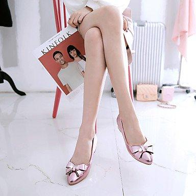 Abito talloni delle donne Primavera Estate Altro similpelle ufficio & carriera Party & Sera tacco basso con strass bowknot Rosa Argento Oro Altro Silver