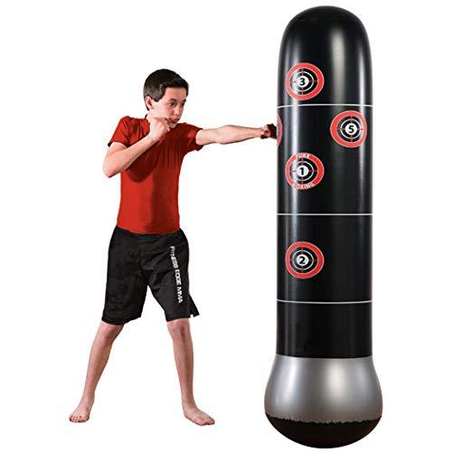 Ncient Freistehender Boxsack Höhe 160cm Standboxsack Trainer Punching Ball Sandsack